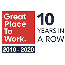 Great Place To Work 10 years in a row