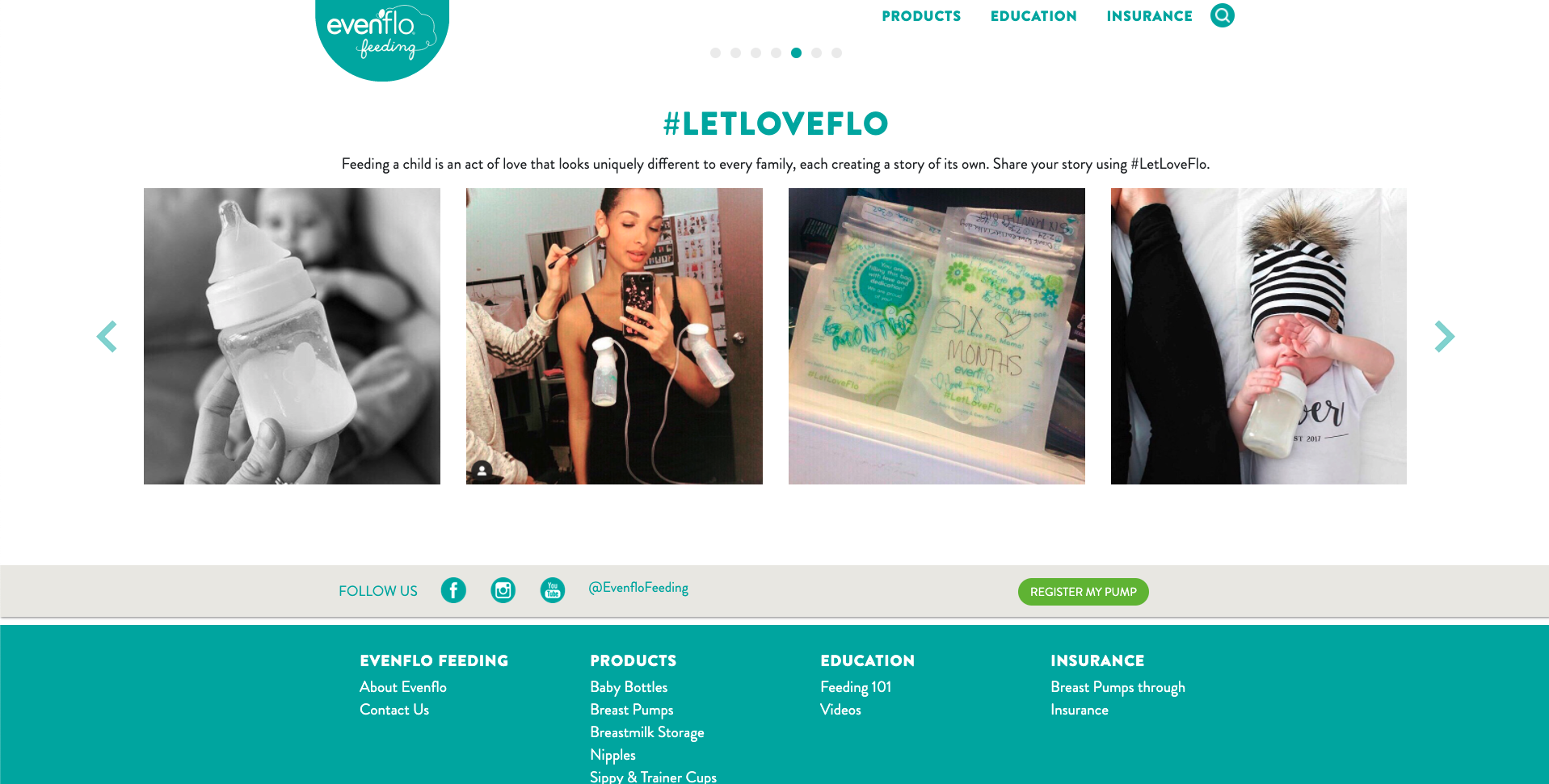 Evenflo Feeding Website